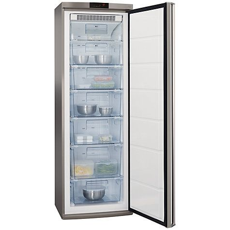 Buy AEG A72710GNX0 Tall Freezer, A++ Energy Rating, 60cm Wide, Stainless Steel Online at johnlewis.com