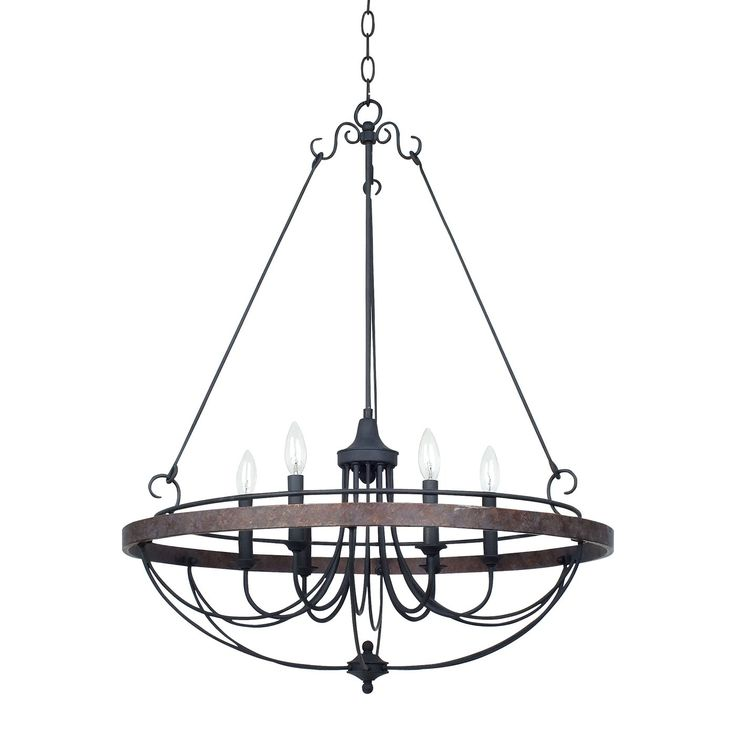 Shop Cal Lighting  FX-3518/6 Helena Iron 6 Light Chandelier at ATG Stores. Browse our chandeliers, all with free shipping and best price guaranteed.