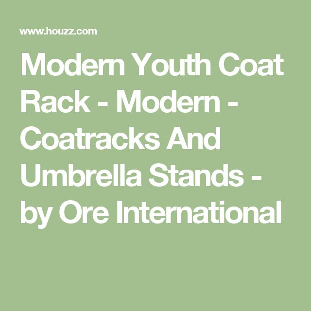 Modern Youth Coat Rack - Modern - Coatracks And Umbrella Stands - by Ore International