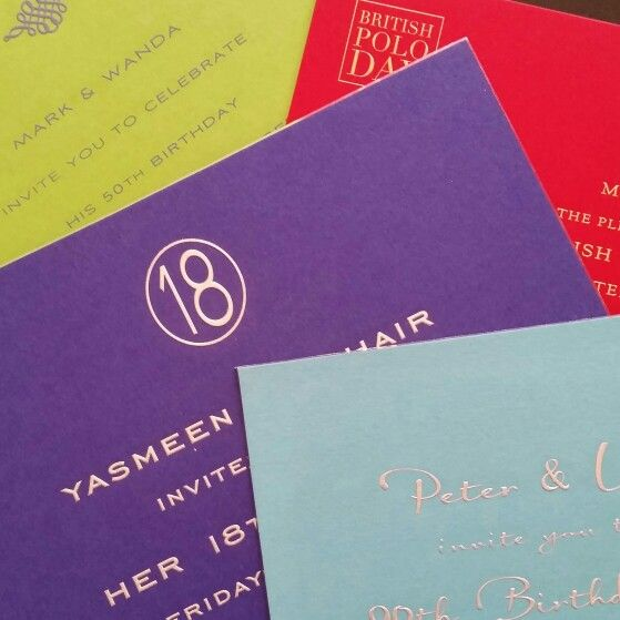 Engraved and delicious colour combos from The Grosvenor Stationery Company 020 7730 4515