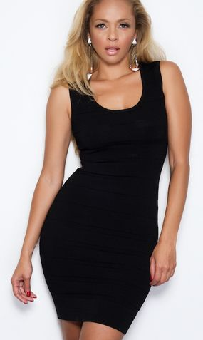 'ELENA' BODYCON DRESS - BLACK