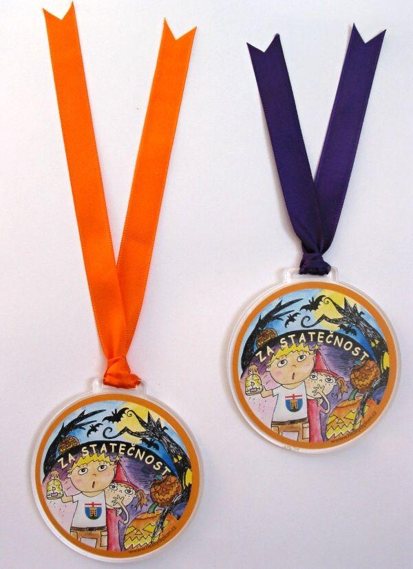 medaile na halloween - za statečnost