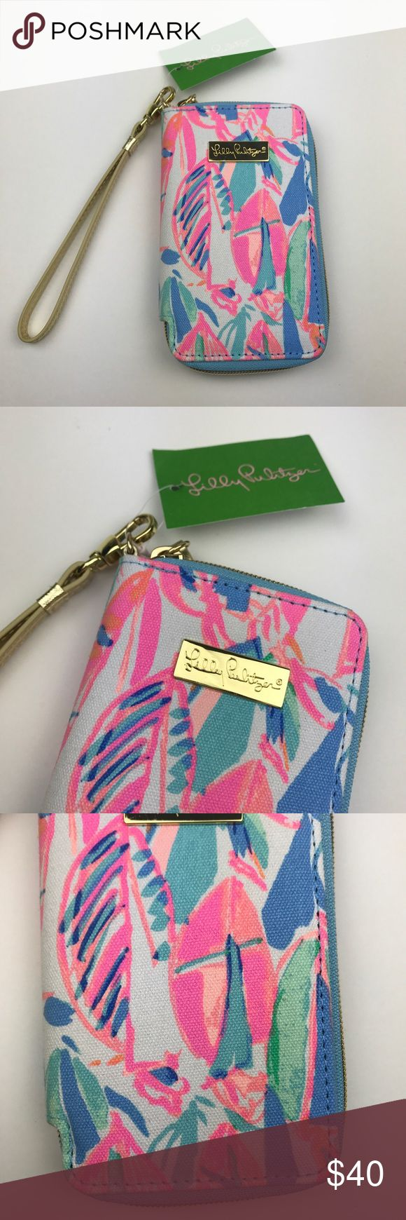 "[Lilly Pulitzer] Tiki Palm Phone Case Wristlet New Colorful printed zip case with Wristlet strap. Interior smart phone pocket fits iPhone 6, 6s , and 7. Credit card and ID slots. Perfect for on the go. Out To Sea print.   🔹Dimensions: 3.5""W x 6""H x 0.75""D 🔹Condition: NWT. New and never used. Lilly Pulitzer Bags Clutches & Wristlets"