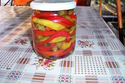 Ardei Bulgaresti la Borcan   Retete Culinare - Bucataresele Vesele