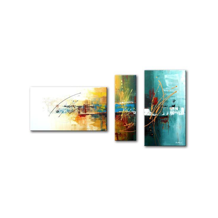 Drieluik acryl schilderij 'Earthsong' van Buttner - Kunstvoorjou.nl #buttner #schilderij #abstract #drieluik #kunstvoorjou