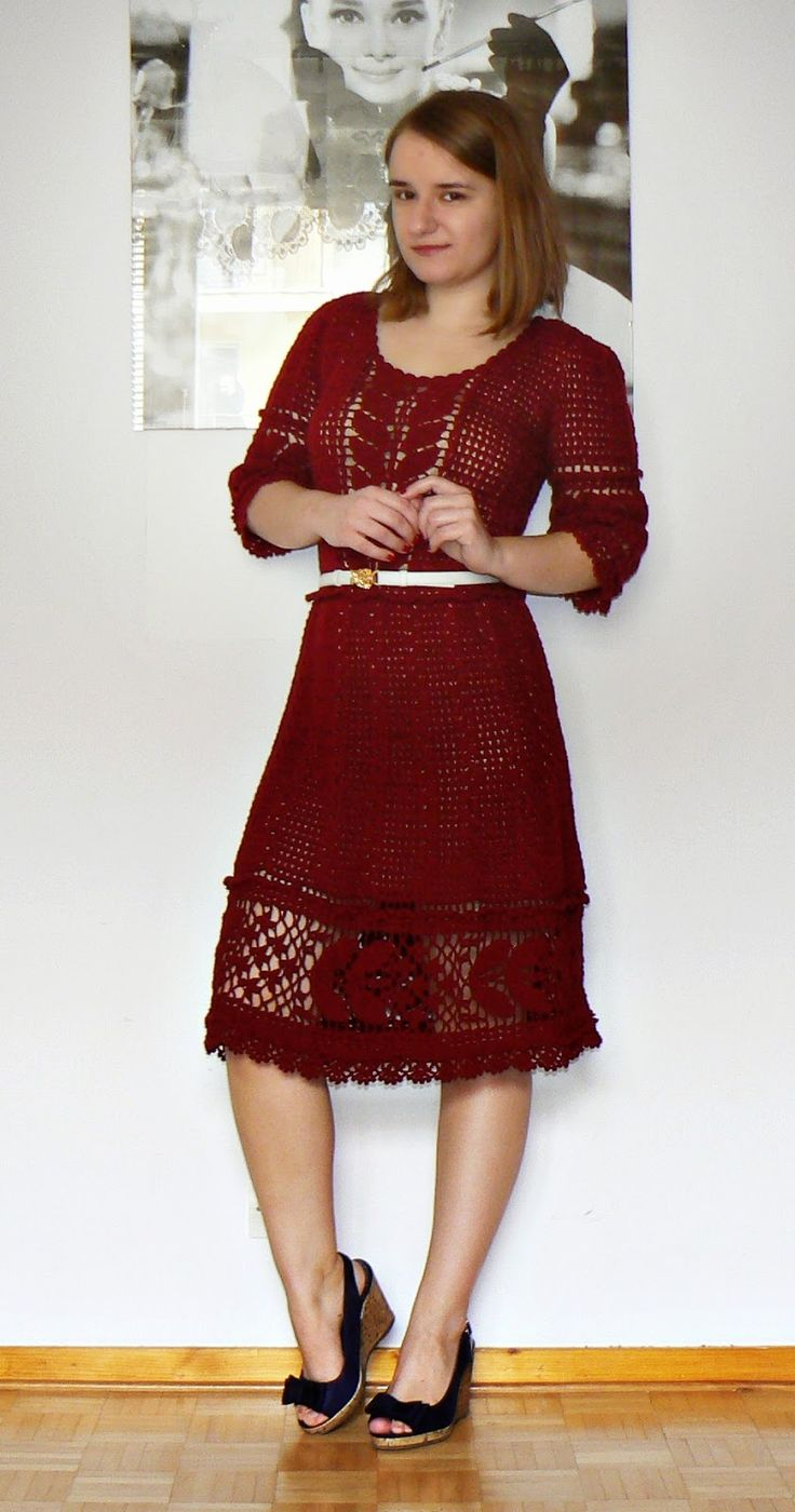 Wow this crocheter is an artist ! Crochet dress - Hand made fashion by MG