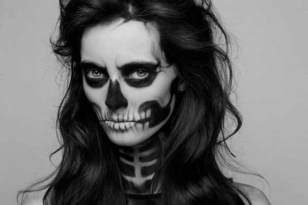 HALLOWEEN 4 ME!  Skeleton Make-Up by Mademoiselle Mu | DeMilked