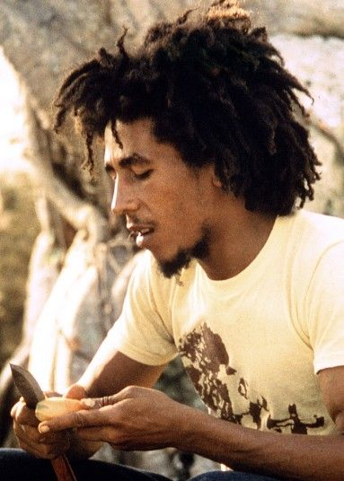 Bob Marley cooks, Westmoreland, Jamaica, 1974.Bob Marley cooks Ital food, a vegetarian diet followed by most Rastafarians. Ital food should be fresh, containing no preservatives or additives, and should have little to no meat or dairy. Rastafarians believe the Ital diet promotes a healthy mind, body and spirit.