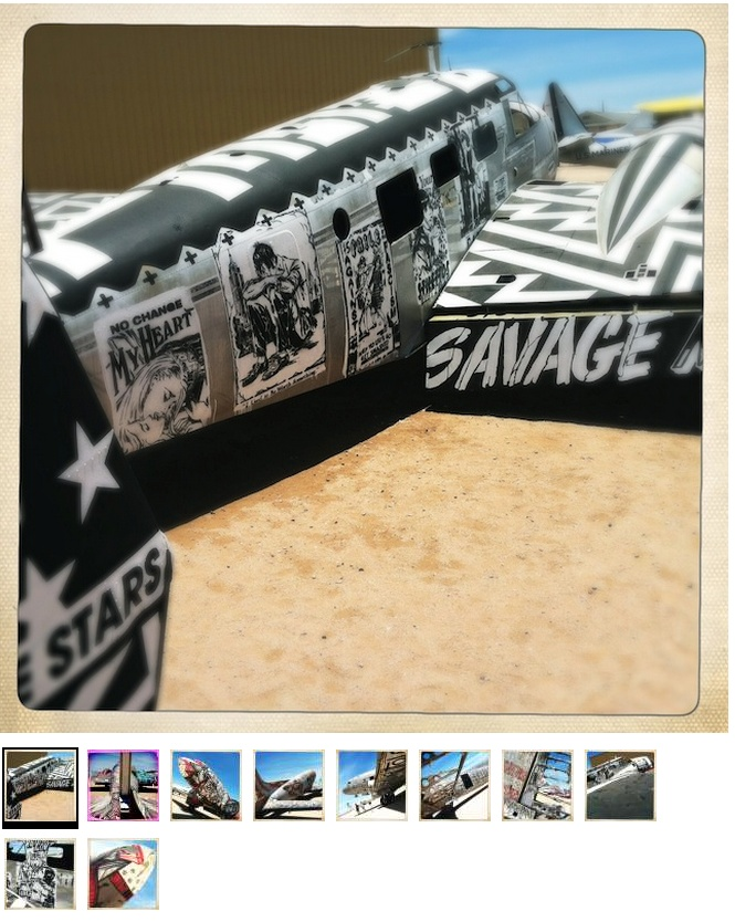 "Los tatuajes, Planes de Undead ""Boneyard"" la Fuerza Aérea  http://www.wired.com/dangerroom/2012/07/boneyard-graffiti/"