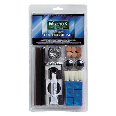 Cue Care and Tip Tools 75187: New Mizerak Deluxe Billiard Pool Table Cue Repair Kit Free Shipping -> BUY IT NOW ONLY: $84.14 on eBay!