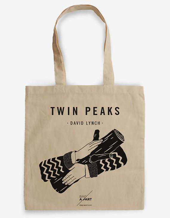 Tote bag Tribute to Twin Peaks - Coopers Agent - Ask my log - David Lynch 100 % ecologic cotton Handle length: 67 cm Dimensions: 38 x 42 cm Capacity: 10