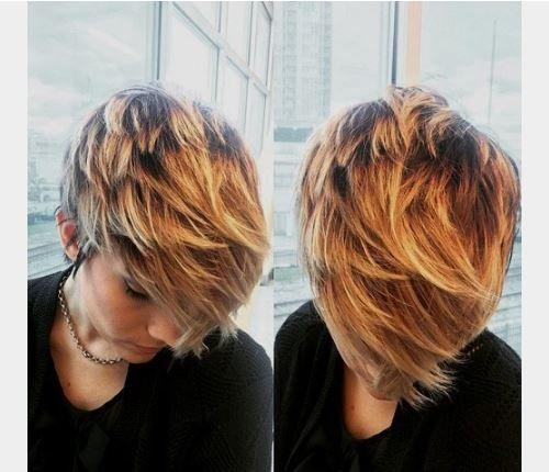 Uzun pixie dramatik balyaj saç renkleri