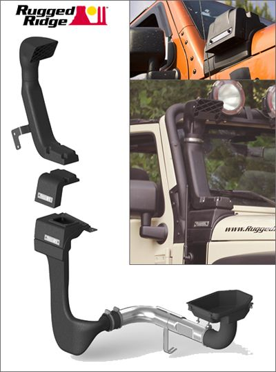 Fitting a Jeep Wrangler Unlimited JK Sahara with a Rugged Ridge XHD snorkel system WITH PICTURES!