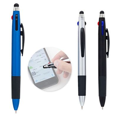 REF:SPIDER STYLUS   Bolígrafo Plástico. Con Parte Superior en Stylus.  Con Tres Colores de Tinta: Negra, Azul y Roja.  Con Acabado Metalizado.  Tipo de Producto: IMPORTADO.  Medida de Bolígrafo: 14.2 cm.  Área de Marca en Barril: 4 cm ancho x 0.8 cm alto. Técnica de Marca: Tampografía.  Colores Disponibles: Negro, Azul y Silver.