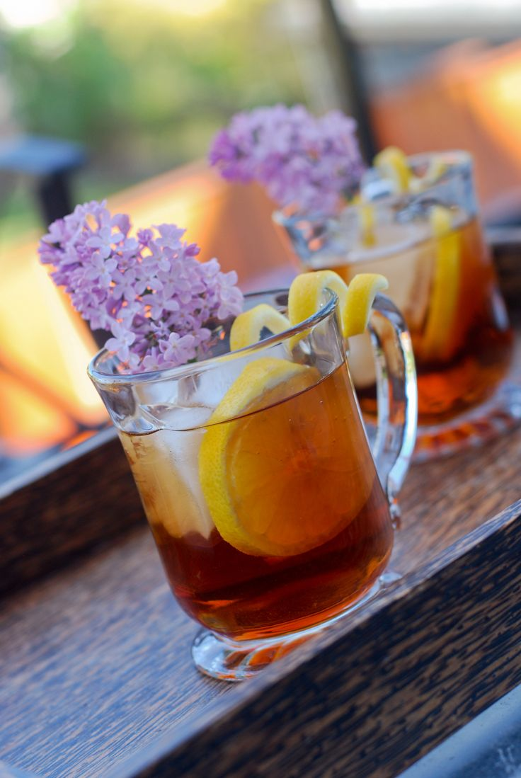 Lilac Iced Tea Recipe Tea recipes, Flower food, Iced tea