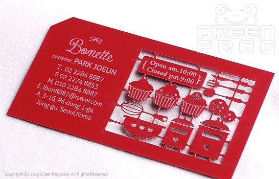 100 Customized Business Cards for a Patissier/Baker/Chef & Bakery/Restaurant, Laser Cut Business Cards, Unique Name Cards