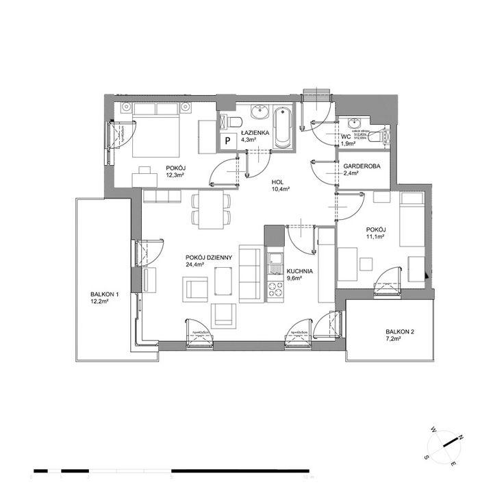 A233 - Piętro II - Budynek A2 - Plany mieszkań - Bursztynowa - Gdańsk - Mieszkania - Oferta - Invest Komfort