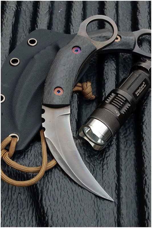 Harimau Titanium Karambit - Tora Custom Knives