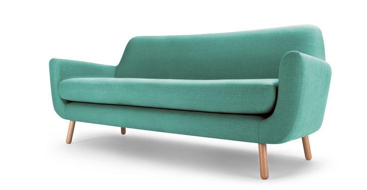 Jonah 3 Seater Sofa, Med Blue