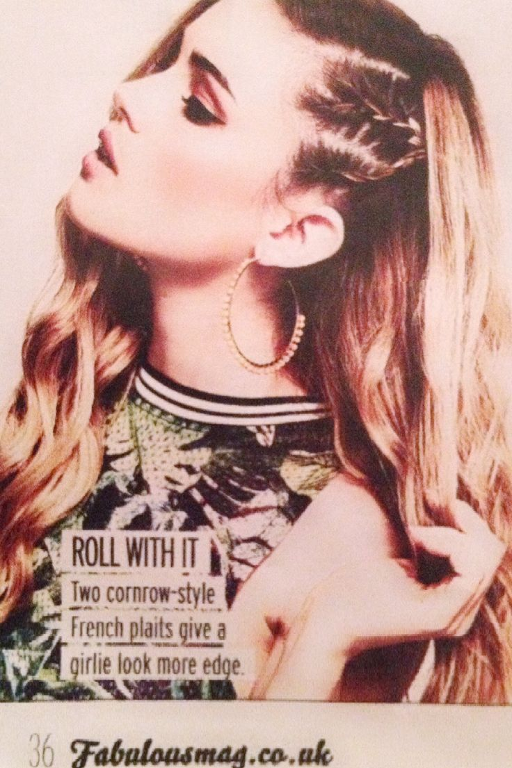 Side cornrows, French plait, side style, edgy, fabulousmag.co.uk