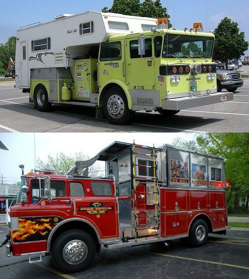 A fire truck camper is surely something you rarely see on the road... have you ever seen one? Would make for a fun camping road trip for sure!! :)