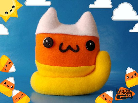 Kawaii Candy Corn Cat Food Plushie, Cute Stuffed Candy Corn Cat, Kawaii Candy Plush Gifts #cats #CuteCats #catlovergift #catlover #cutekawaii #kawaii #kawaiifood #kawaiiplushie #kawaiicat #happybirthday #plushies #plushiemaker #stuffedanimals #catplushie #handmade #handmadeplushie #halloweendecor #halloween #halloweencandy #candycorn #sweettooth