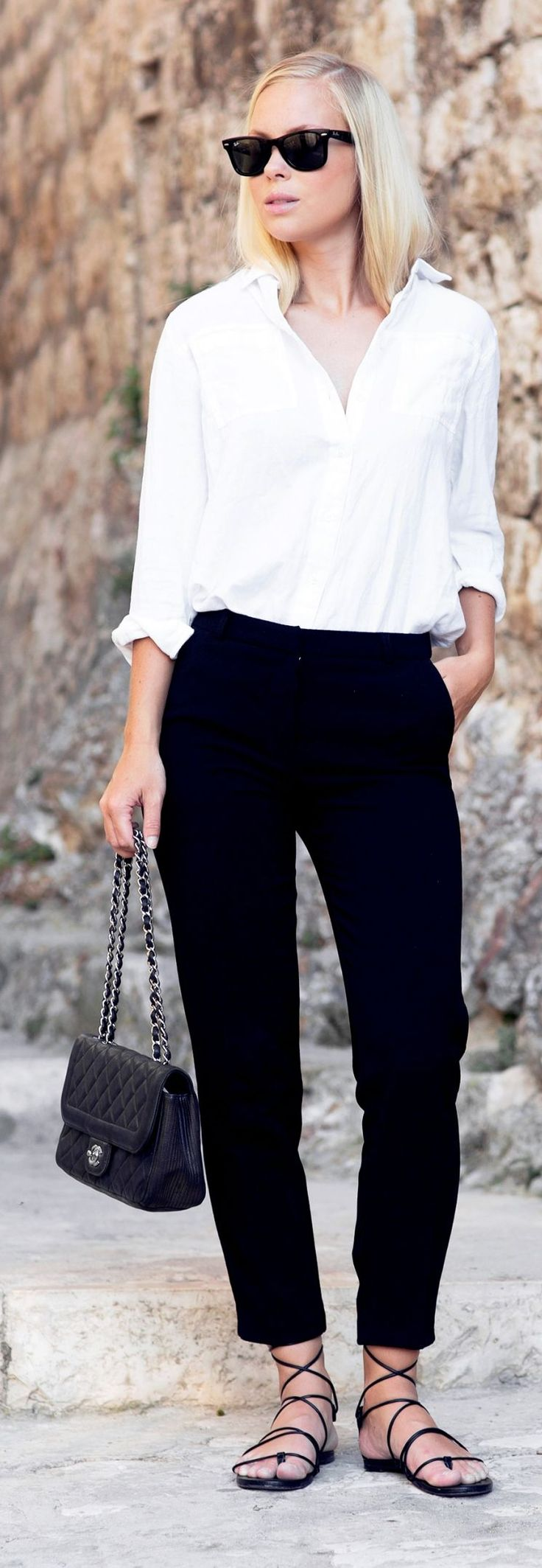 Black And White Vacay Chic Outfit Idea by Victoria Tornegren