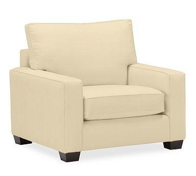 PB Comfort Square Upholstered Grand Armchair #potterybarn
