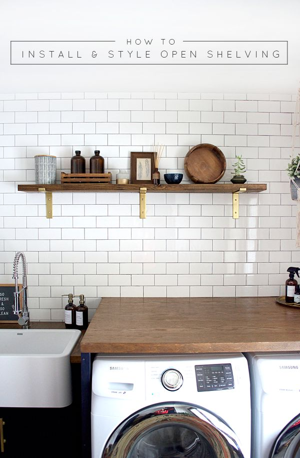 How to Install and Style Open Shelving