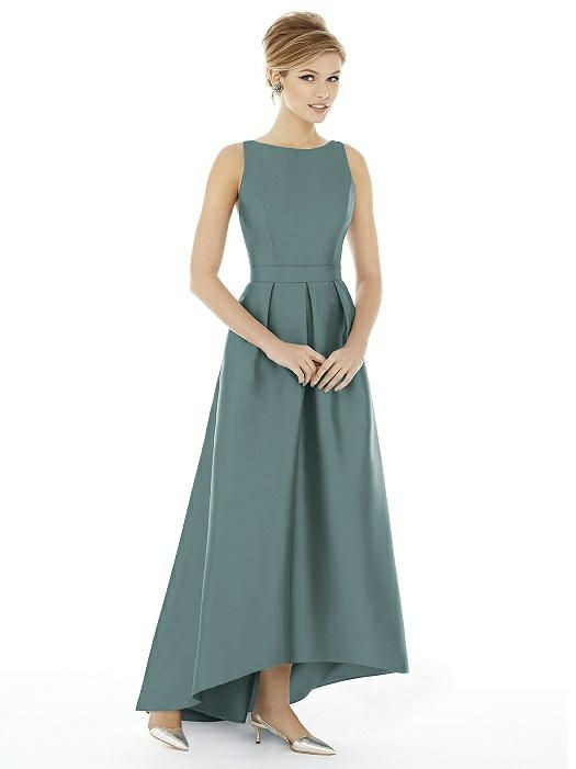 Alfred Sung Bridesmaid Dress D706 - Smoke Blue | The Dessy Group