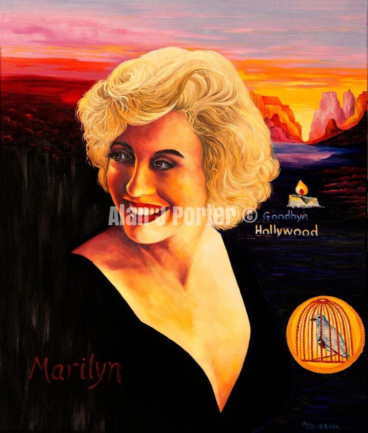 #love #alanjporterart #kompas #art #marilyn #monroe #normajean #painting #smile #beautiful #hollywood