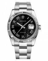 Rolex Datejust 36mm Acier Noir Jubilee Cadran Oyster bracelet 116234 BKJRO
