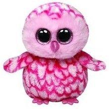 Ty Beanie Boos Pinky - różowa sowa średnia