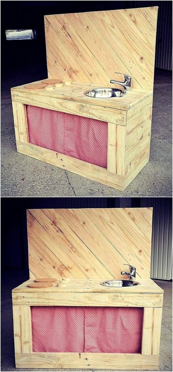 Mud kitchen upcycled pallet mud kitchen pallet kitchen counter with - 961 Best 1001 Pallets Images On Pinterest 1001 Pallets Pallet Ideas And Pallet Furniture
