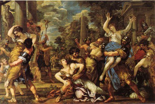 Pierre de Cortone - L'enlèvement des Sabines - 1627/1628 - Rome, Musées du Capitole