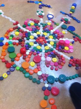 Bottle Cap Mandala