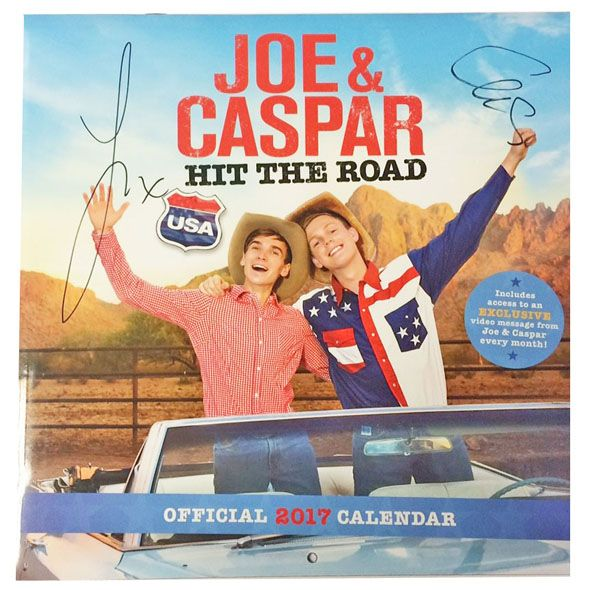 Order the Official Joe Sugg & Caspar Lee 2017 Calendar from Danilo.com by 14th Dec & you could #WIN a SIGNED Copy! For all details click here > http://bit.ly/JCCalTerms