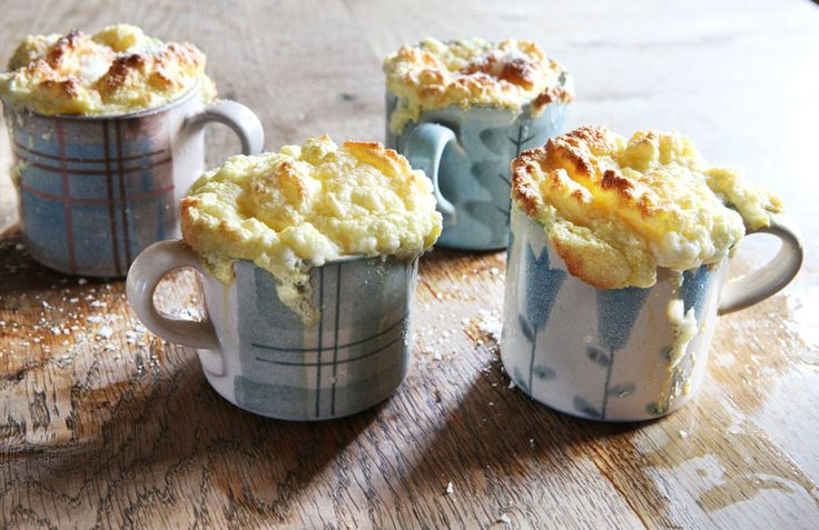 Smoked Haddock Souffles, best made in ANTA small mugs and served immediately with a green salad. See the recipe here http://anta.co.uk/blog/smoked-haddock-souffles/ #anta #souffle