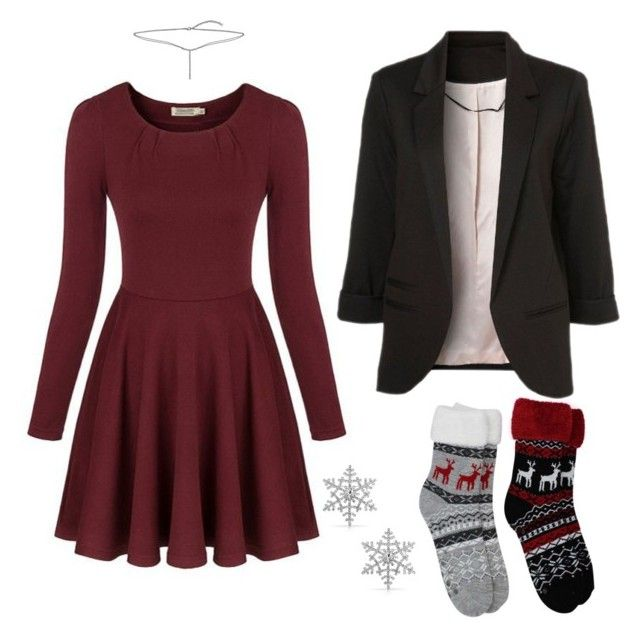 """""""christmas"""" by adela-simkova on Polyvore featuring Bling Jewelry, Chicnova Fashion and WithChic"""