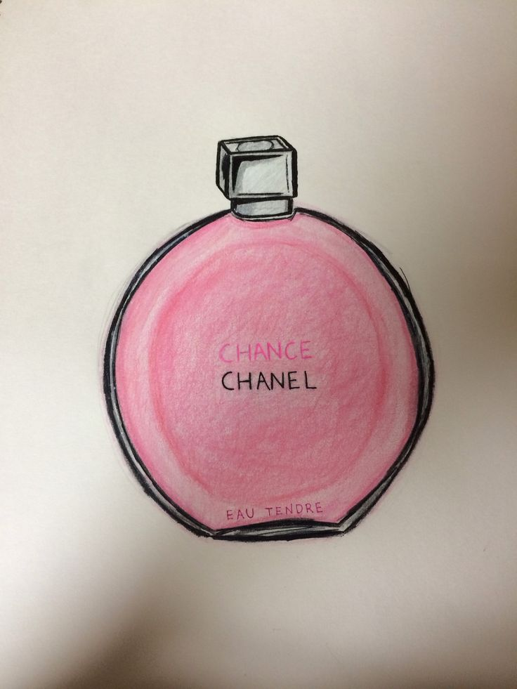 This perfume deserved to become art #chanel #chance #my #gaba #sketch #designs
