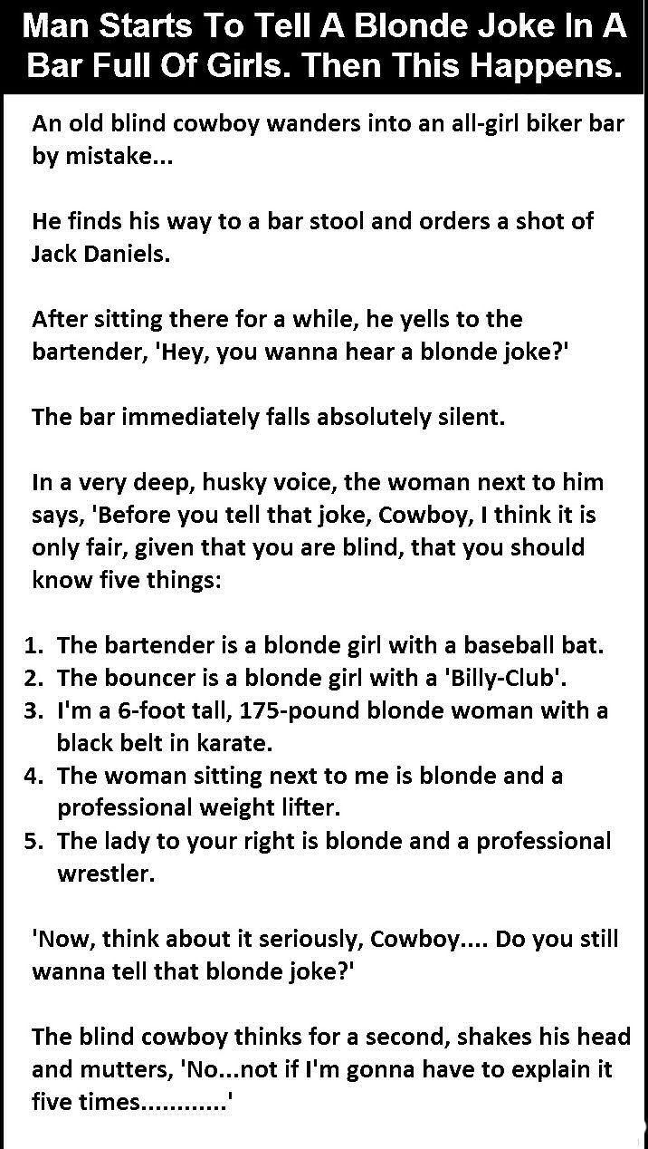 Funny Blonde Jokes Tell