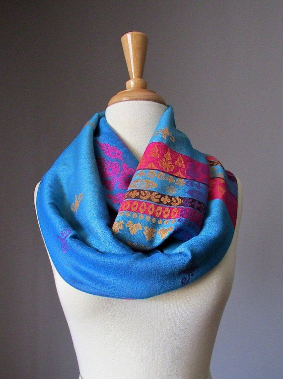 7a82a634f72 Ethnic scarf, pashmina infinity scarf, tribal scarf, chunky scarf ...
