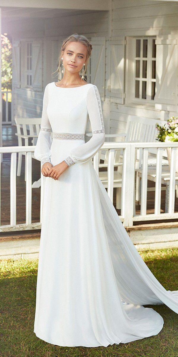 33 Cute Modest Wedding Dresses To Inspire Wedding Forward Plain Wedding Dress Wedding Dresses Wedding Dresses Simple