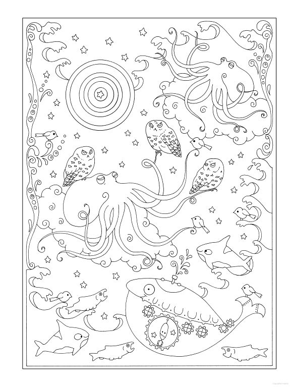 creative haven curious creatures coloring book - Creative Haven Coloring Books