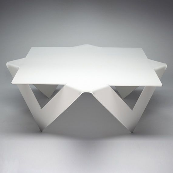 Unique Coffee Table Design Folded Steel