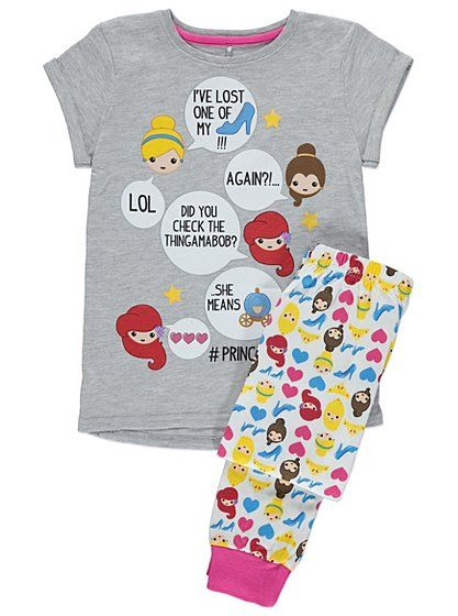 Princess Emoji Pyjamas, read reviews and buy online at George at ASDA. Shop from our latest range in Kids. Make their wardrobe magical with these delightful ...