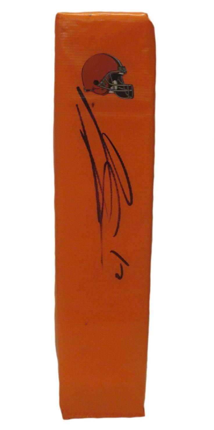 Josh Gordon Autographed Cleveland Browns Full Size Football End Zone Touchdown Pylon, Proof