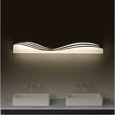 Hot Sale Art Acrylic Led Wall Lamp Bathroom Light Fixtures For Home Indoor Lighting Bedside Wall
