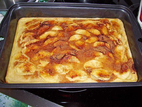 Apfelpfannkuchen aus dem Ofen   – backen
