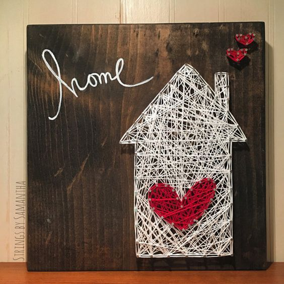 MADE TO ORDER Home & Heart String Art by StringsbySamantha: